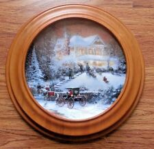 """THOMAS KINKADE COLLECTOR HOLIDAY PLATE, """"ALL FRIENDS ARE WELCOME"""""""
