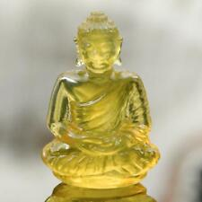 Sculpture of the Buddha Natural Yellow Mexican Fire Opal Gemstone Carving 8.35ct
