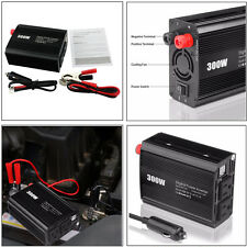 300W Car DC 12V to AC 110V Inverter Electronic Cigarette Lighter Dual USB Ports
