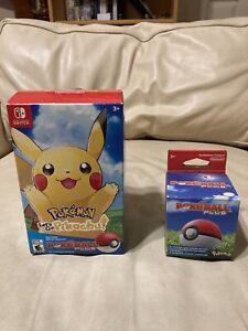 Pokemon Let's Go Pikachu! Pokeball Plus (Box Only, No Game) With Pokeball Box!