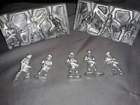 Rare! Vintage Tin Lead soldiers, metal figure mold. WWI US Army  3 different