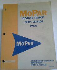 MOPAR DODGE TRUCKS PARTS CATALOG 1960