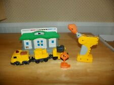 Geotrax Mix & Go Work Crew Train Engine & Remote & Depot Station Tested Working