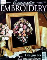 EXQUISITE EMBROIDERY Magazine 1998 - 22 Designs with uncut patterns in VGC