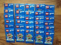 Sainsburys Lego Cards Create The World 2018 30 packs 120 stickers .Free Postage