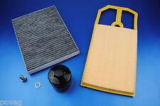 Innenraumfilter Ölfilter Luftfilter kl. Inspektionspaket VW Lupo Golf 4 Bora