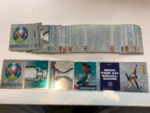 Panini Uefa Euro 2020 Shiney/Foil Stickers incl Front Page & Logos/Badges