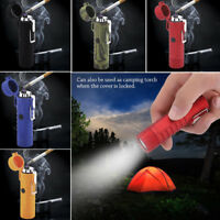2 in1 Dual Arc Electric USB Lighter Plasma Windproof Cigarette + Camping Torch