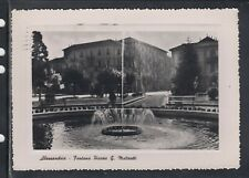 Cartolina Alessandria Fontana Piazza G. Matteotti AF953