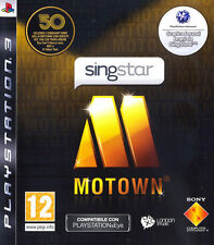 Singstar Motown PS3 Playstation 3 IT IMPORT SONY COMPUTER ENTERTAINMENT