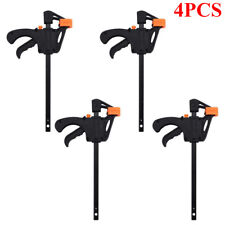 4pcs Woodworking Clip Bar F Clamps Carpentry Hand Work Quick-Release Diy Tools