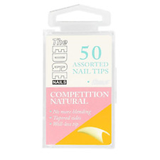 The Edge Nails Competition Natural Assorted Nail Tips Size 8 (50 Pack)
