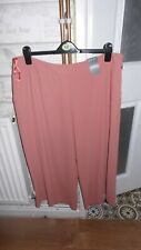 Ladies cropped brown size 20 BNWT wide leg trousers