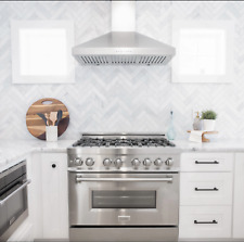 """Zline 36"""" Dual Fuel Range w/Gas Stove and Electric Oven in Stainless Ra-36"""