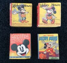 Mickey Mouse Big Little Books Collection 717 1933 Whitman 1st & 2nd Walt Disney