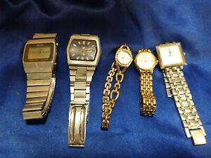 Watches mens & ladies seikos x2, citizen x2 plus jag x1 (some working)