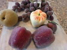 Vintage Decorative Artificial Sugared Fruit -Apples, Pear, Grapes etc