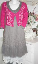 Cream  Tunika Kleid  Dress Crushed Tunik Sky Grey  size: 44 Neu