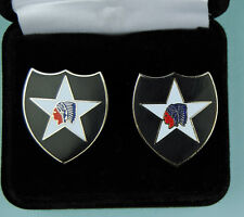 2nd Infantry Division Army Cuff Links in Presentation Gift  00006000 Box - cufflinks