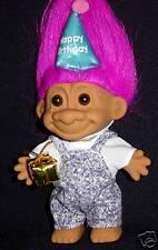 """HAPPY BIRTHDAY BOY 5"""" Russ Troll Doll NEW IN BAG"""