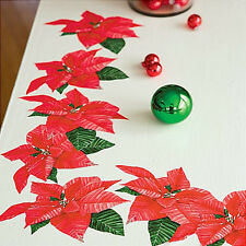 WALLIES POINSETTIAS holiday wall stickers 10 peel & stick decal Christmas flower