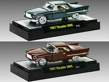 1957 CHRYSLER 300C 2 CAR SET W/CASES AUTO THENTICS 1/64 MODEL BY M2 32500-20D