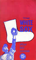 1963  baseball program, Chicago White Sox vs. Los Angeles Angels, unscored
