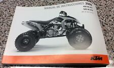 KTM Nuevo Espanol Manual de Instrucciones 2009 450 XC ATV 525 XC ATV Spanish