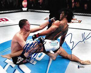 Nate Diaz & Benson Henderson Signed 8x10 Photo BAS Beckett COA UFC Autograph Fox