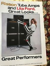 Lita Ford Poster Vintage 1980's Risson Posters