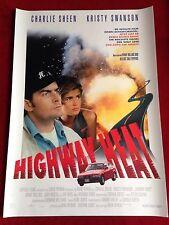 Highway Heat Kinoplakat Poster A1 Charlie Sheen, Kristy Swanson