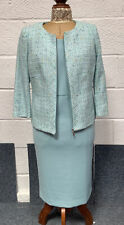 Artigiano Aqua Shift Dress and Jacket Set Size UK8-10 Wedding Occasion BNWT