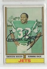 Emerson Boozer 1974 Topps signed auto autographed card Jets