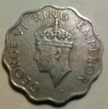 1946 British India 1 Anna Coin Featuring King George VI
