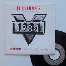"Vinyle 45T Eurythmics  ""Sexcrime - 1984"""