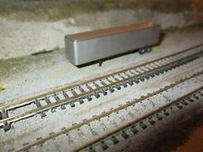 CON COR  N SCALE  UNMARKED SILVER   48 FT  TRAILER    DETAILED