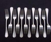 12 fourchettes de table en métal argenté apollo christofle modèle ruban lot 2