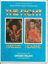 Marvelous Marvin Hagler Thomas Hearns   On Site Boxing Program   April 15 1985