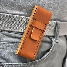 HIGONOKAMI MCUSTA folding knife real Leather Pouch Wallet Purse Bag Case