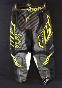 NEW FLY RACING Kinetic Motocross BMX Riding Pants Green & Black Men's Size 28