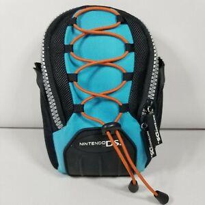 Nintendo DS Mini Backpack Carrying Case Travel Bag Black Blue