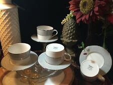 BLOCK SPAL CHINA  SET OF 4 CUPS & SAUCERS  GREY DAWN   PORTUGAL 1980