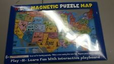 Ata-Boy Magnetic USA Map Play-n-Learn Puzzle Board Interactive Playboard