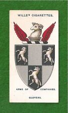 WORSHIPFUL COMPANY of GLOVERS  Coat of Arms  Glove makers  1913 original print