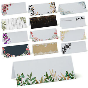 Place Cards, Name Cards, Plain for Wedding Conference, Parties, FROM £1.29