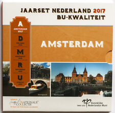 Netherlands 2017 official set OF 8 coins 1c-2€ BU booklet with cover (#3191)