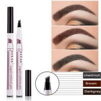 LULAA Tattoo Eyebrow Ink Pen Long Lasting Eye Brow 3D Fork Makeup Pencil