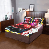 Power Rangers 3-Pieces Bedding Set 2 Pillowcases And 1 Quilt Cover