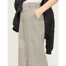 women warehouse honey check wide leg trousers UK 10 new with tags RRP £42