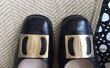 Salvatore Ferragamo Black Leather Women's Shoes